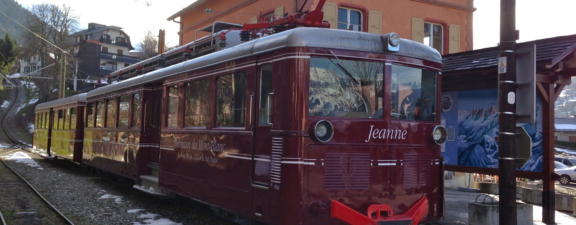 Tramway du Mont Blanc stops at Saint Gervais station for the epic climb to the Bionnassay Glacier