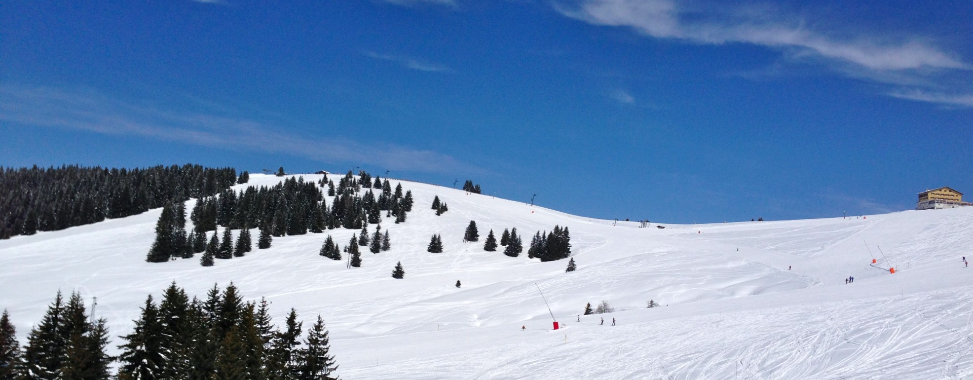 Mont Joux ski park all to yourself